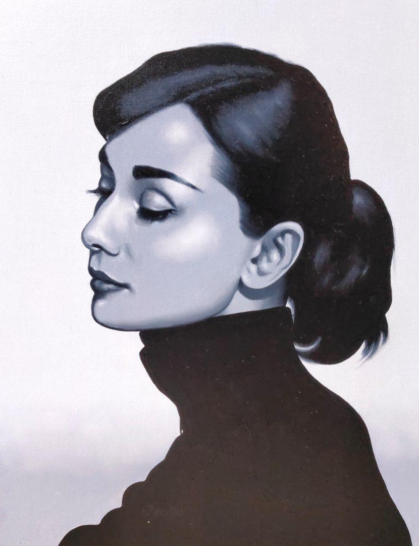 Portrait-Audrey-Hepburn-I」油彩6号2101-02.jpg
