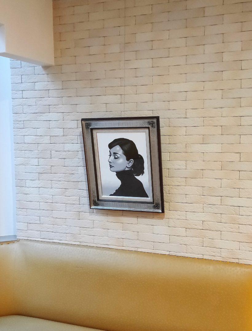 Portrait-Audrey-Hepburn-I」油彩6号2101-0210.jpg