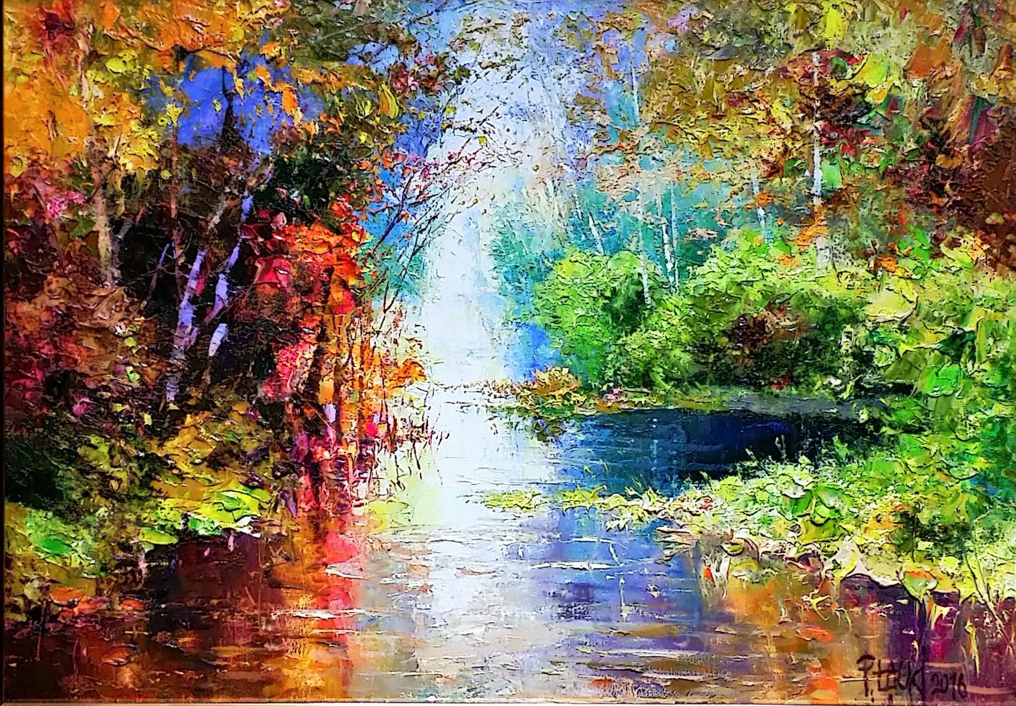 Autumn-waterⅡ」油彩33×46cm.jpg