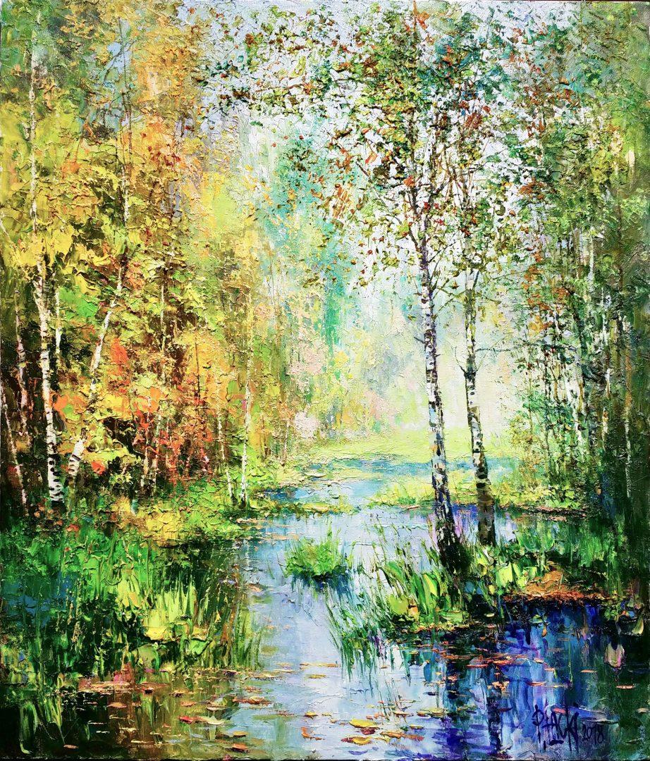 Birches」油彩10号1905-01.jpg