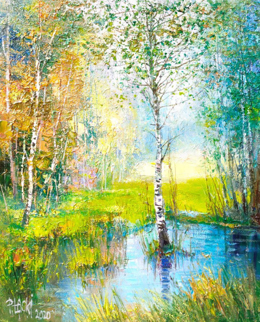 Birches」油彩3号2101-381.jpg