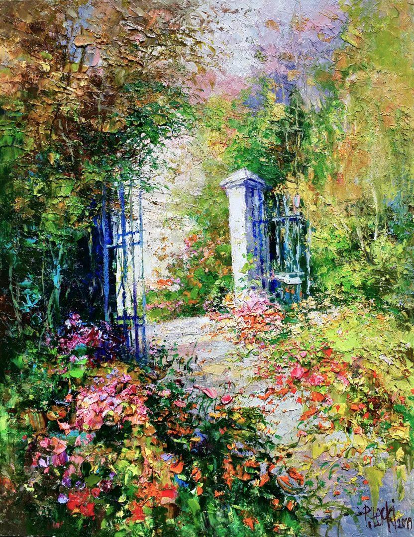 Entrance-to-garden」油彩6号1909-01.jpg