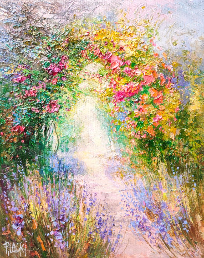 Gate-of-flowers」油彩3号2101-261.jpg