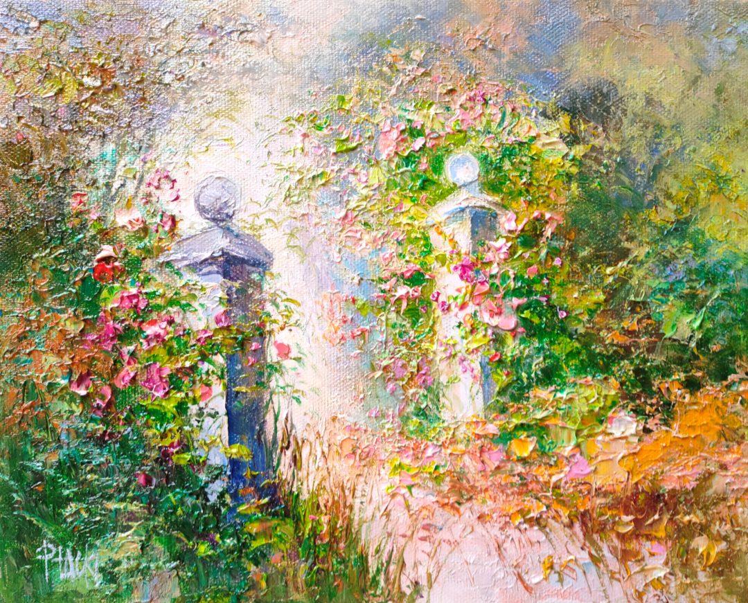 Magical-entrance-to-garden」油彩3号2101-241.jpg