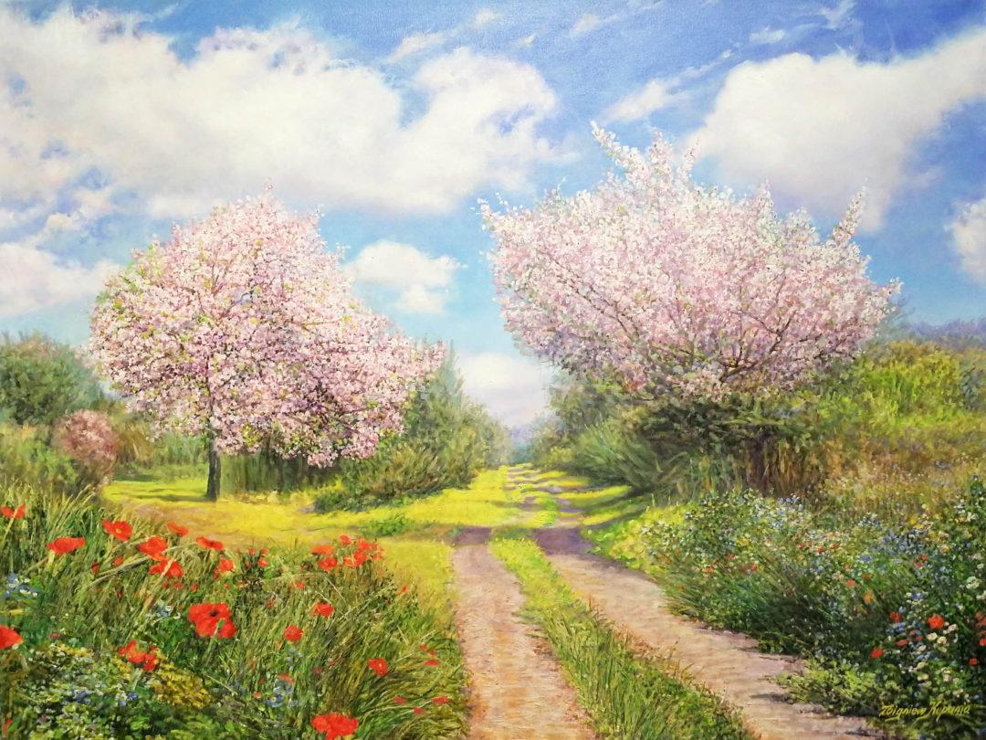 Cherry-blossoms」油彩25号2009-35-scaled.jpg