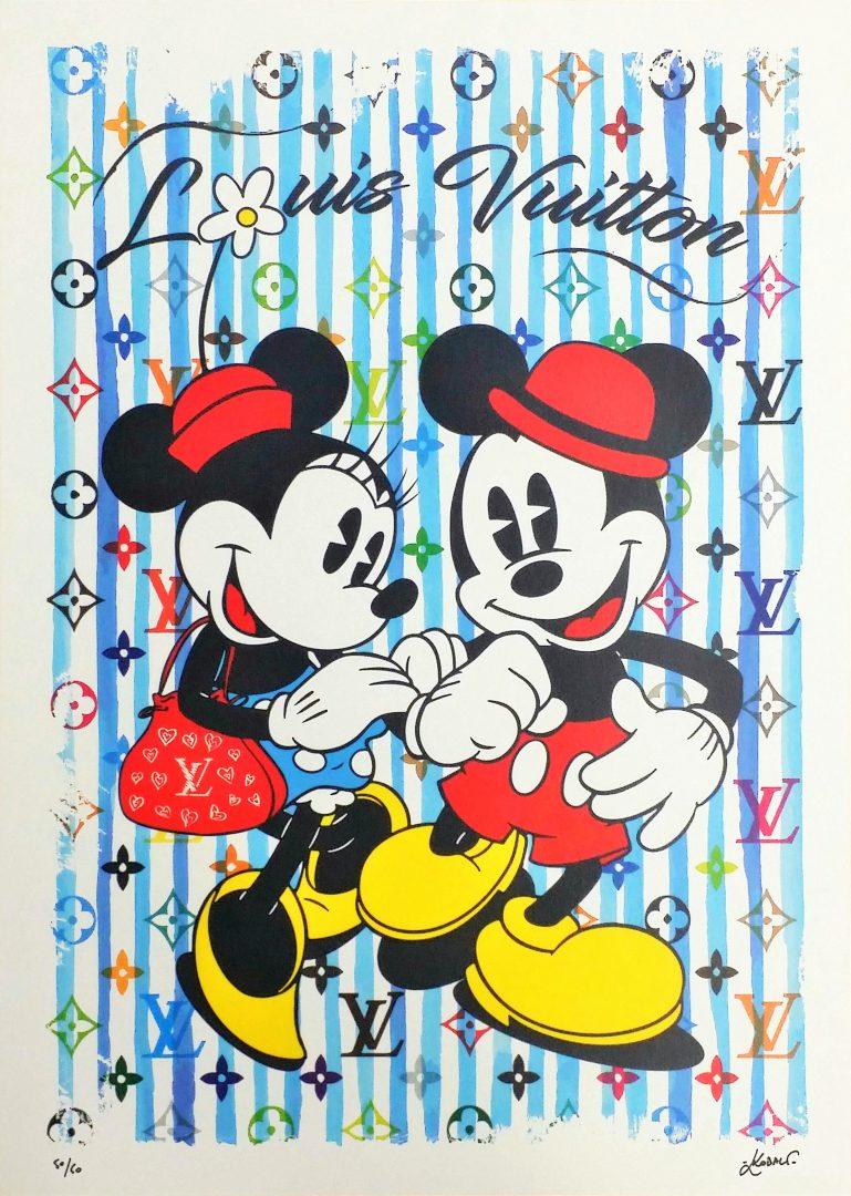 MickeyMinnie-in-Paris-Blue」ジークレー70×50cm.jpg