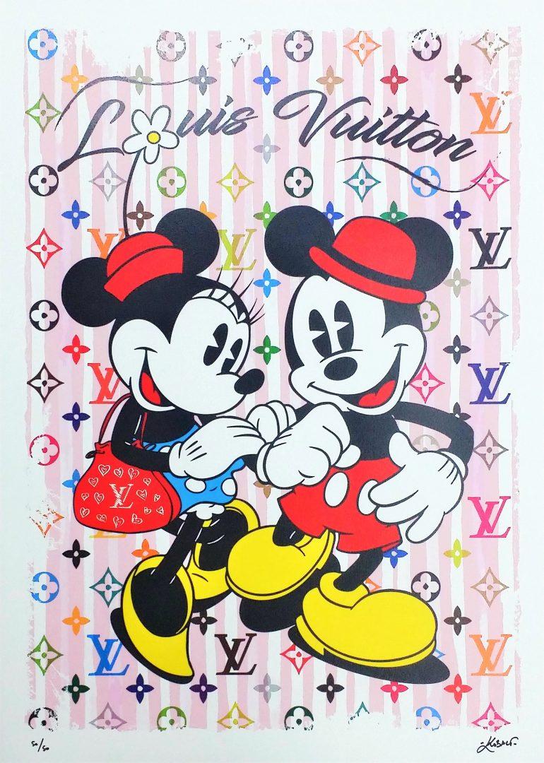 MickeyMinnie-in-Paris-Pink」ジークレー70×50cm.jpg