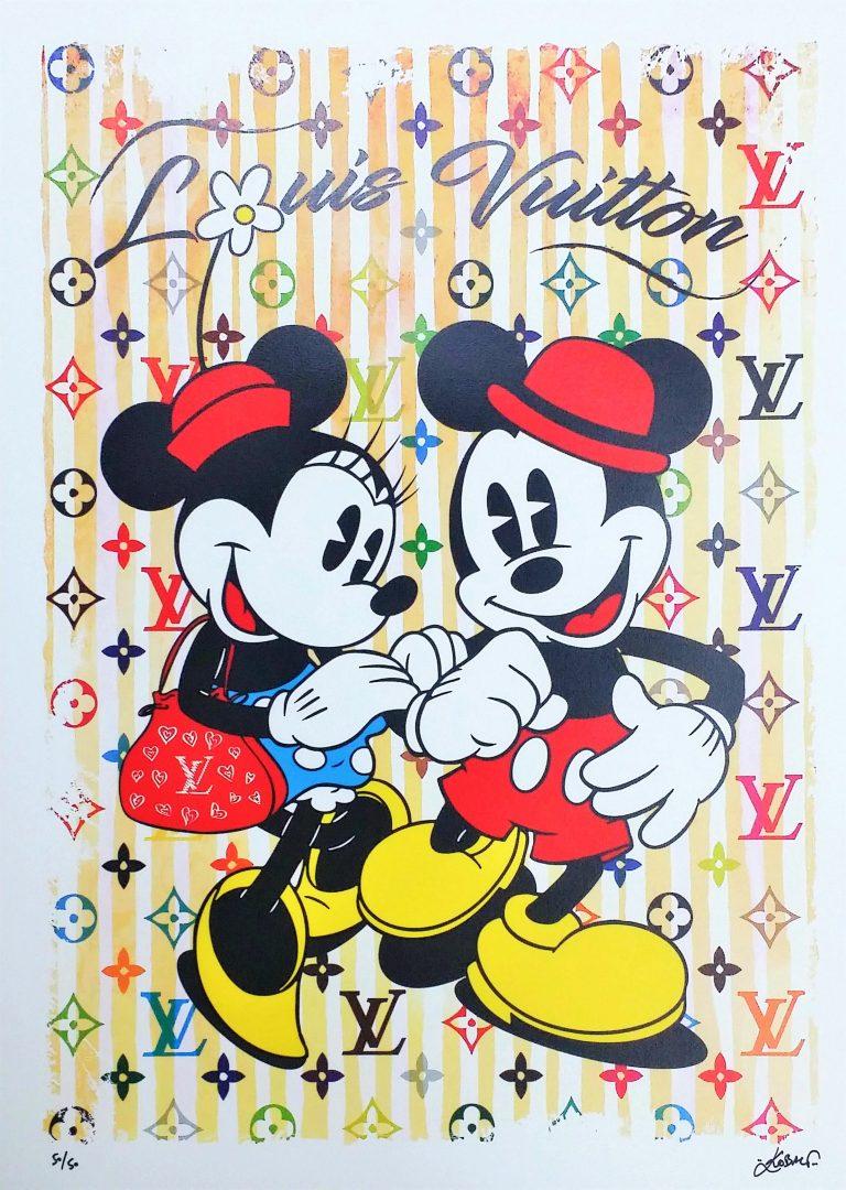 MickeyMinnie-in-Paris-Yellow」ジークレー70×50cm.jpg