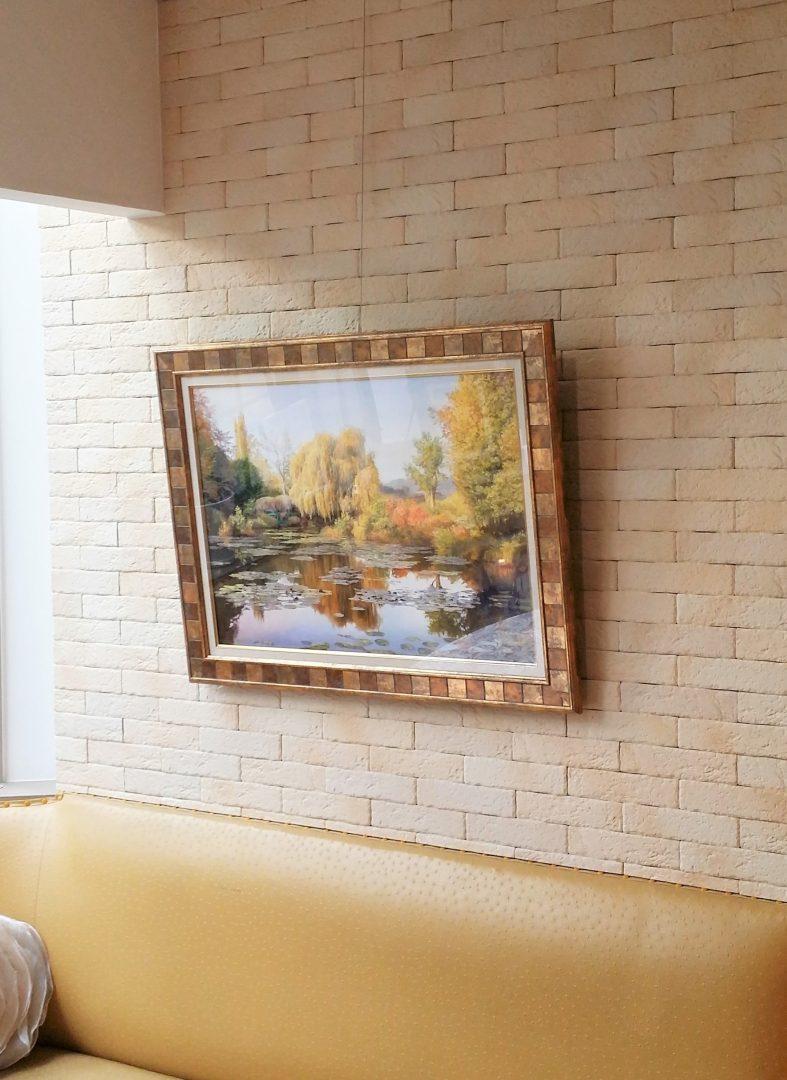 Autumn-Monet-garden」油彩50×70cm10.jpg