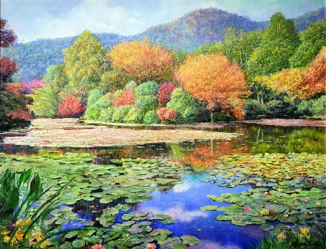Autumn-lakeⅠ」油彩60×80cm.jpg