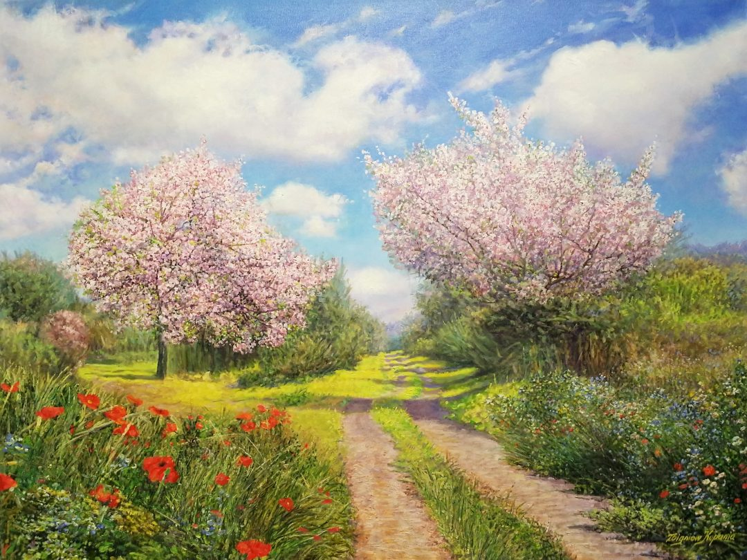 Cherry-blossoms」油彩25号2009-35.jpg