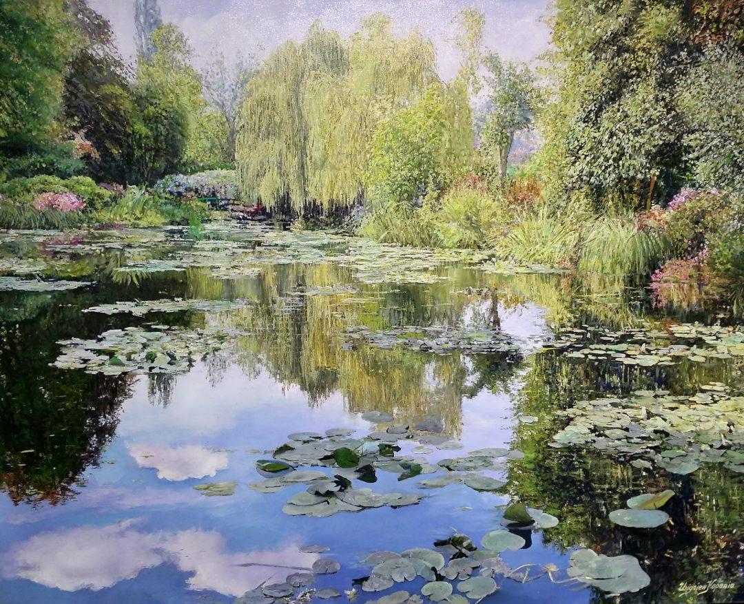 Monet-garden-I」油彩72.5×90.3cm2009-29.jpg