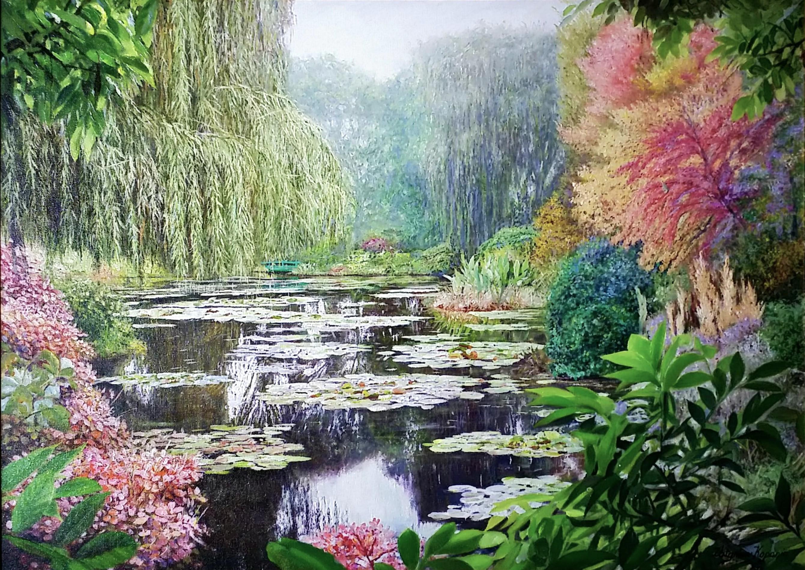 Monet-garden-in-autumn」油彩50×70cm.jpg