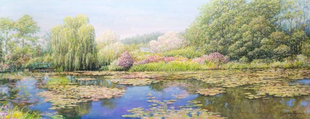 Panoramatic-Monet-garden」油彩25号2009-38.jpg