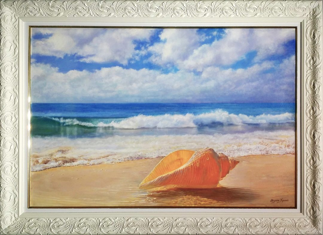 Shell-at-sea-shore」油彩30号1907-012.jpg