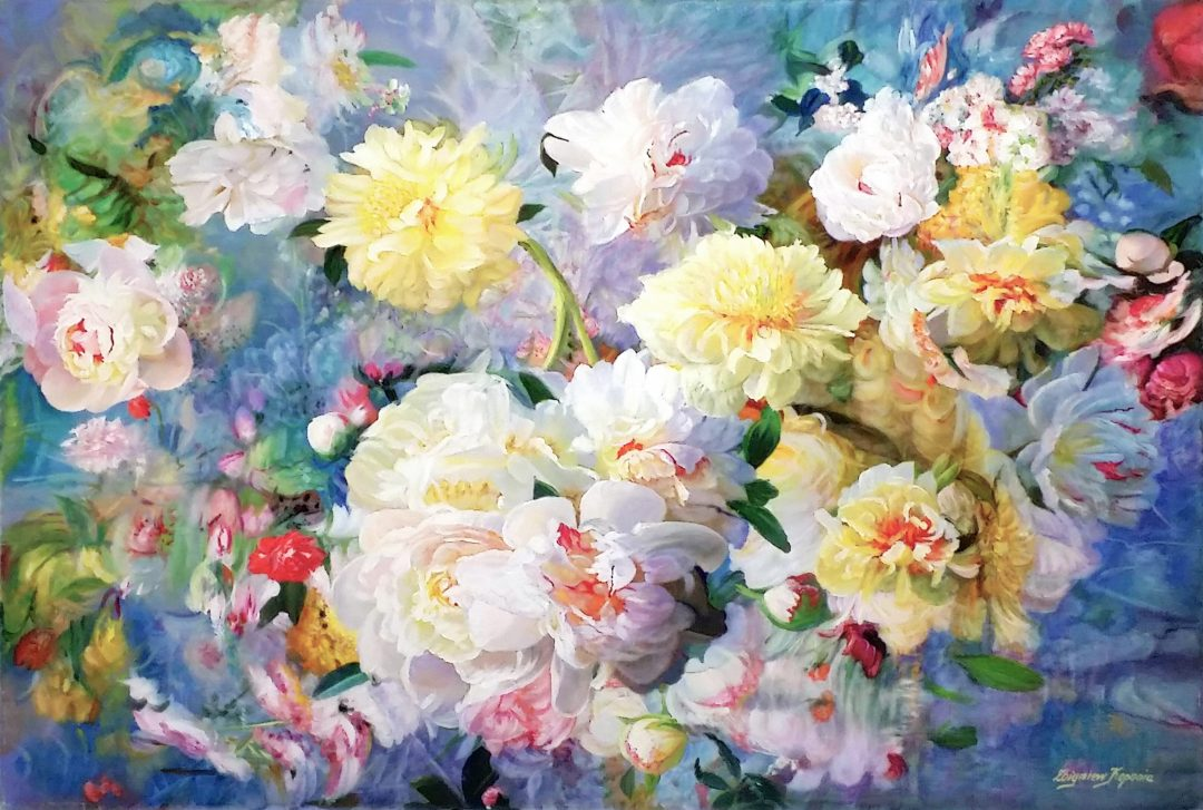 White-and-yellow-peonies」油彩25号1907-03.jpg