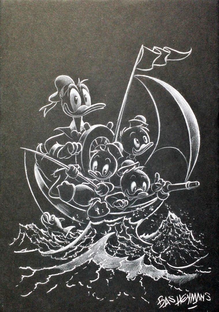 Donald-Duck-Little-Boat」インク鉛筆29.7×21×0.5cm.jpg
