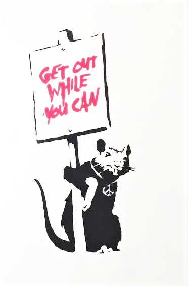 GET-OUT-WHILE-YOU-CAN-WCP-Reproduction」シルクスクリーン50×35cm.jpg