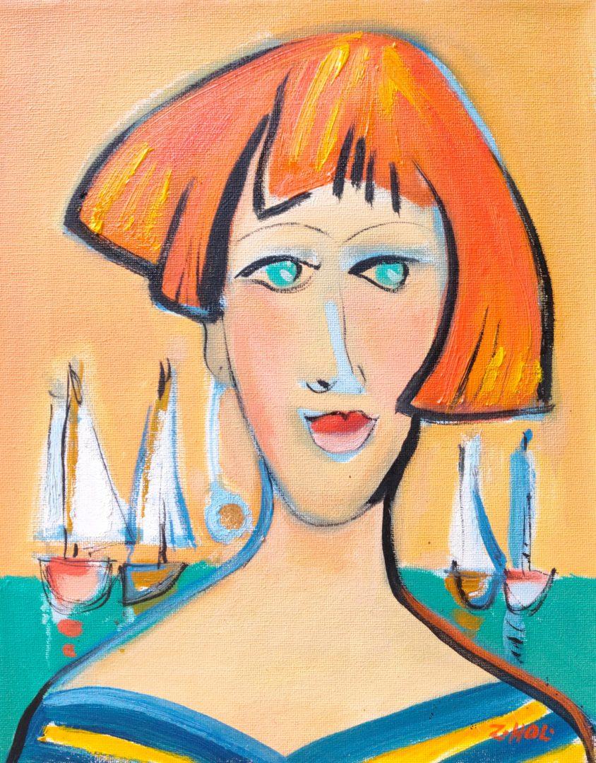 Girl-with-golden-earring」油彩4号2101-23.jpg