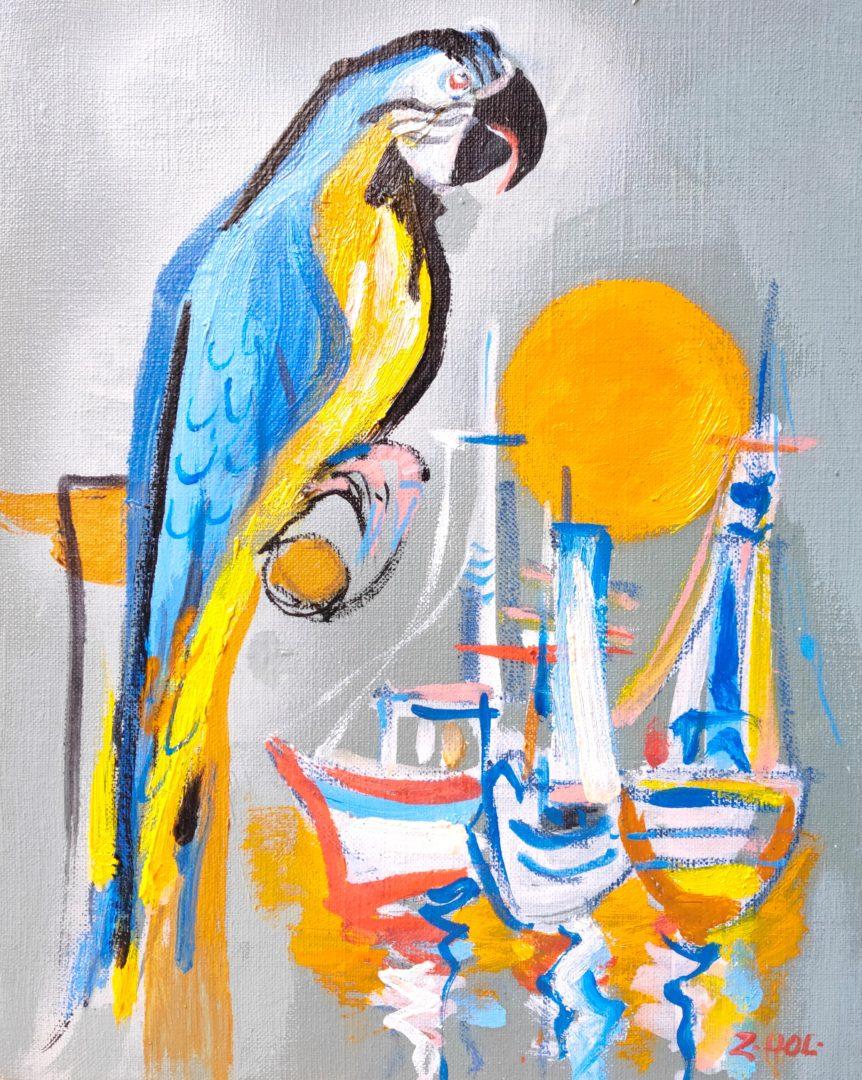 Parrot」油彩・アクリル3号2101-221.jpg
