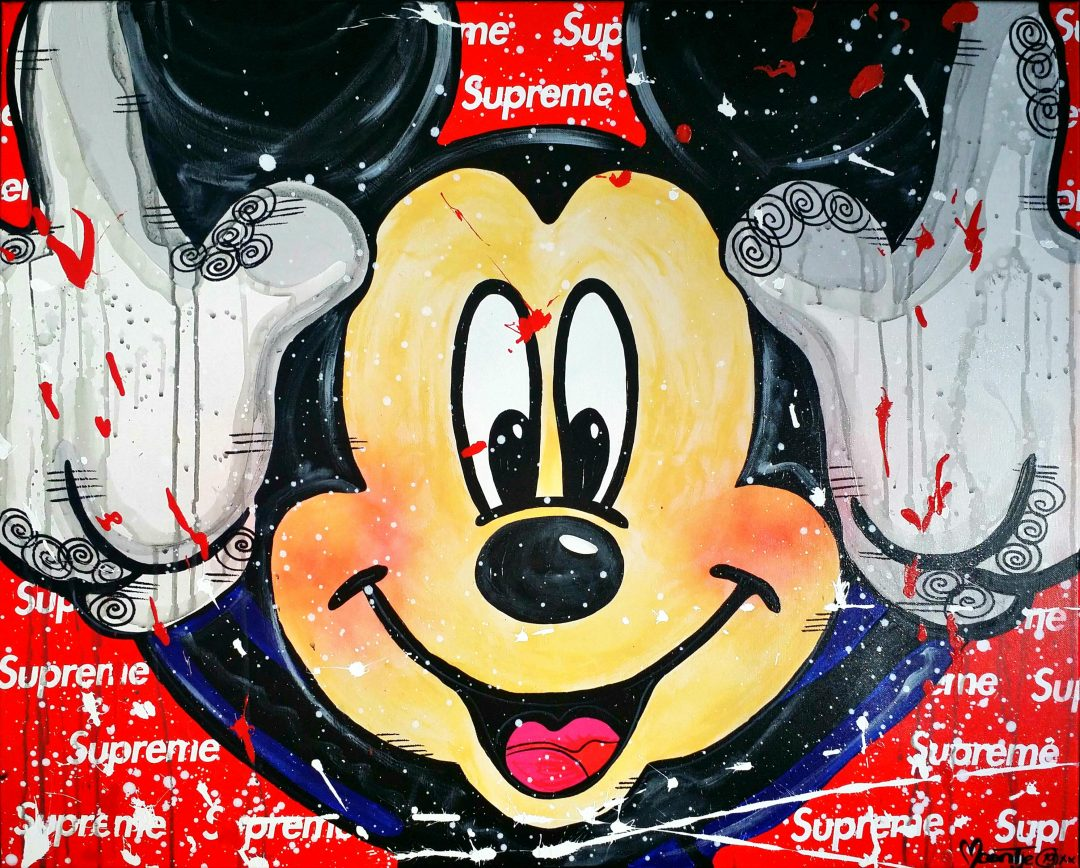 Happy-Supreme-Mickey」アクリル40号.jpg