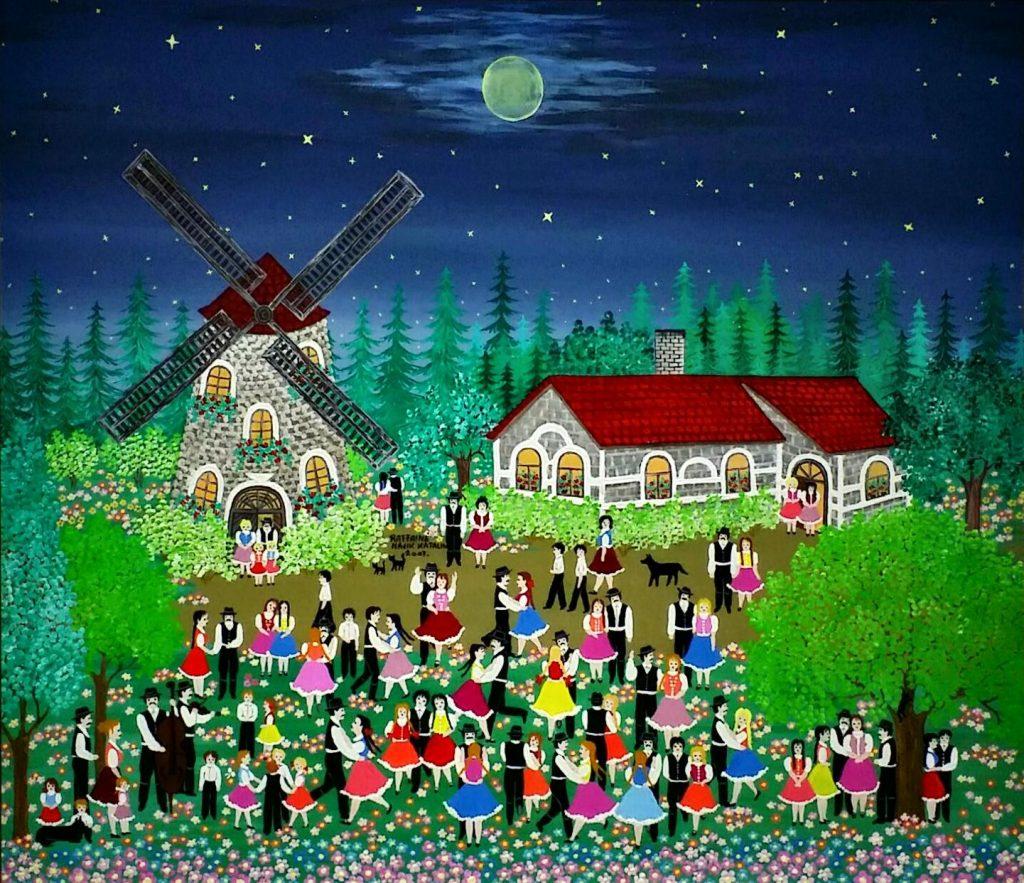 Night-at-windmill」油彩・アクリル58×70.jpg