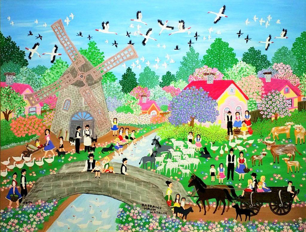 Spring-at-windmill」油彩・アクリル46×60cm.jpg