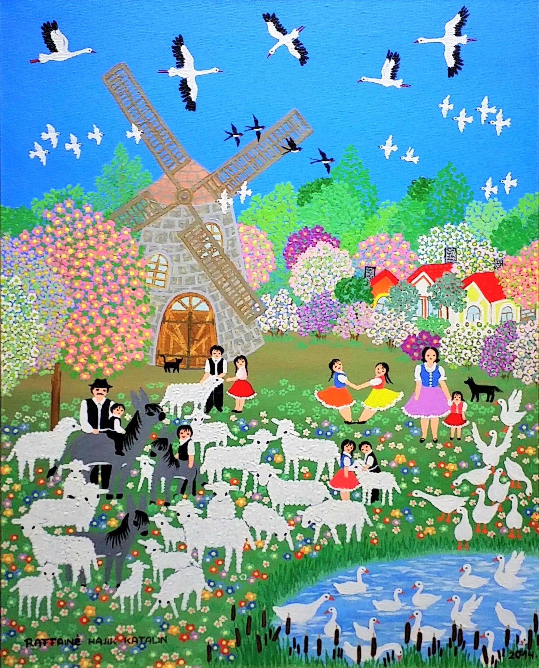 Windmill-and-sheep」油彩・アクリル50×40cm.jpg