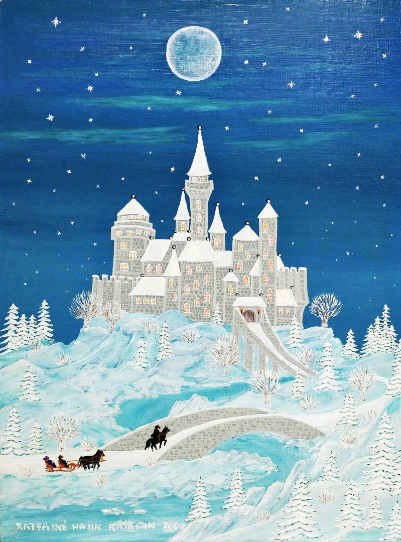 Winter-castle」油彩・アクリル4号1905-20.jpg