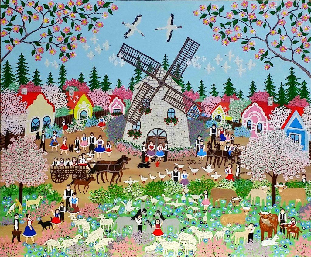Wonderful-spring」アクリル油彩554x46cm.jpg