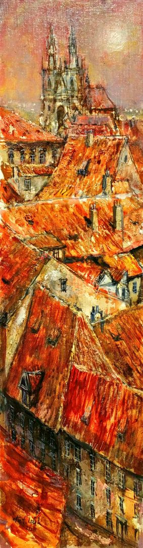 Roofs-of-Old-City」油彩71×20cm1909-14.jpg