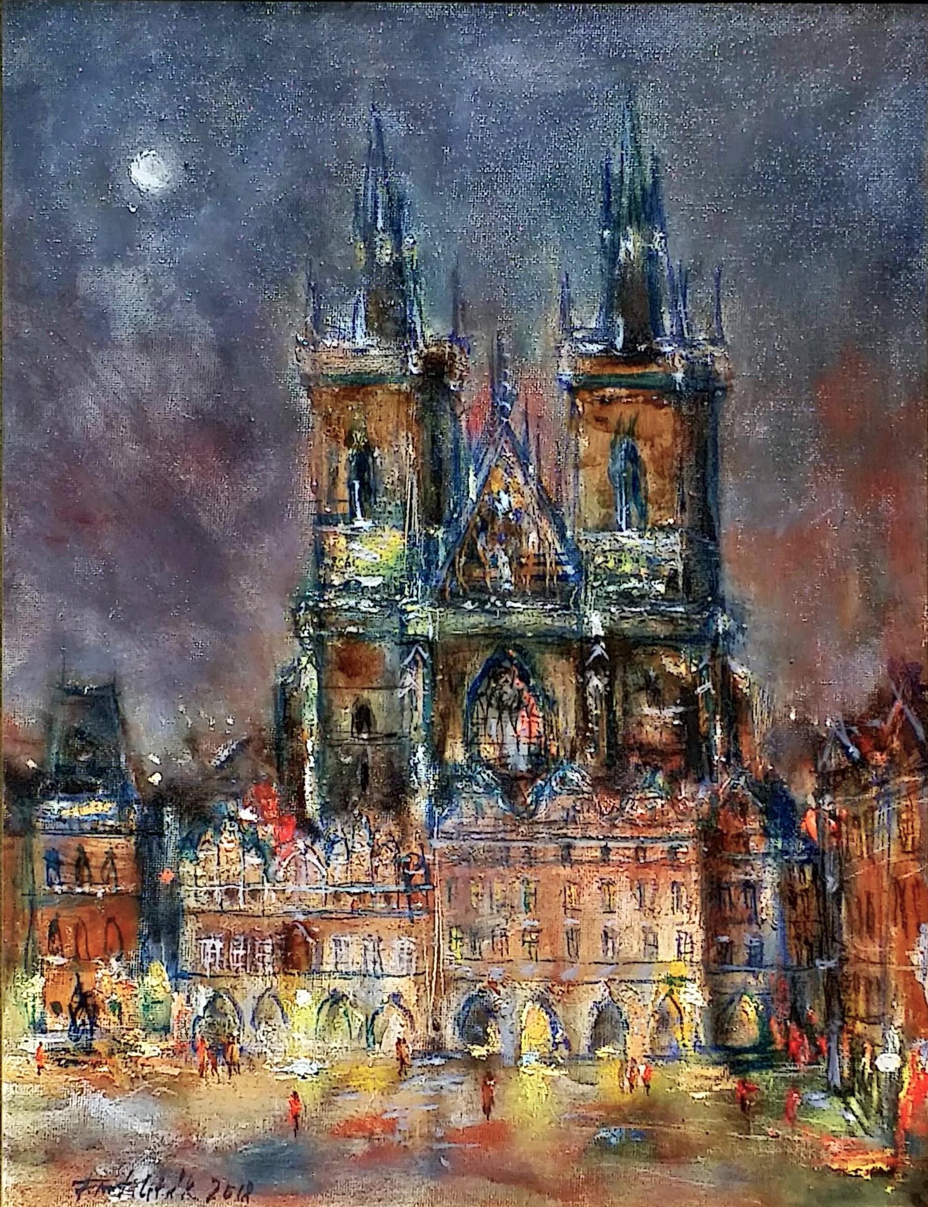 Týn-church」油彩6号1808-241.jpg