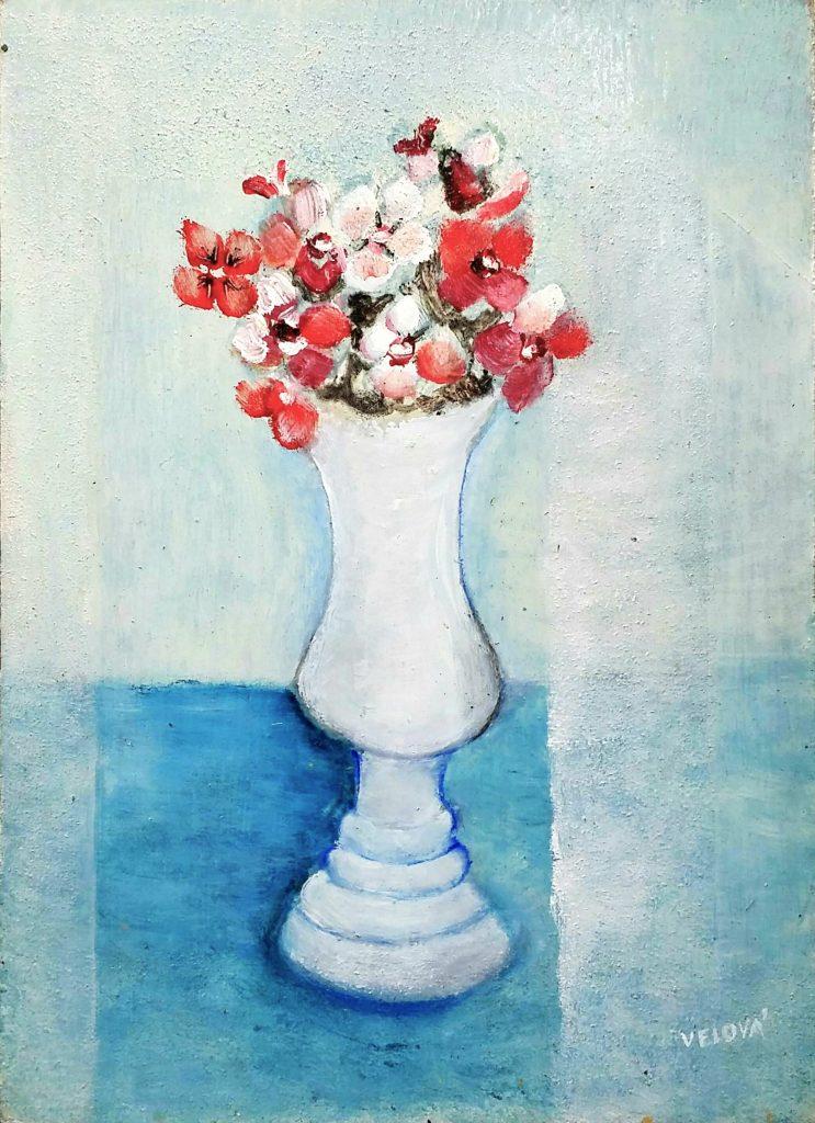 Flower-in-white-vase」油彩4号1810-17.jpg