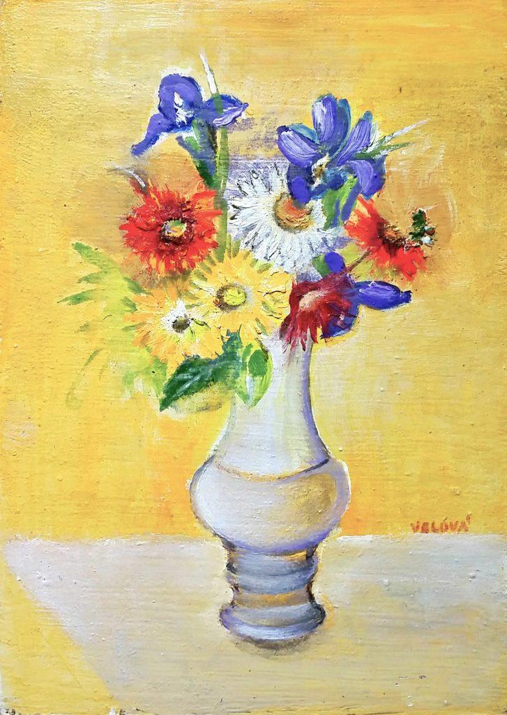 Flower-with-iris」油彩4号1810-20.jpg