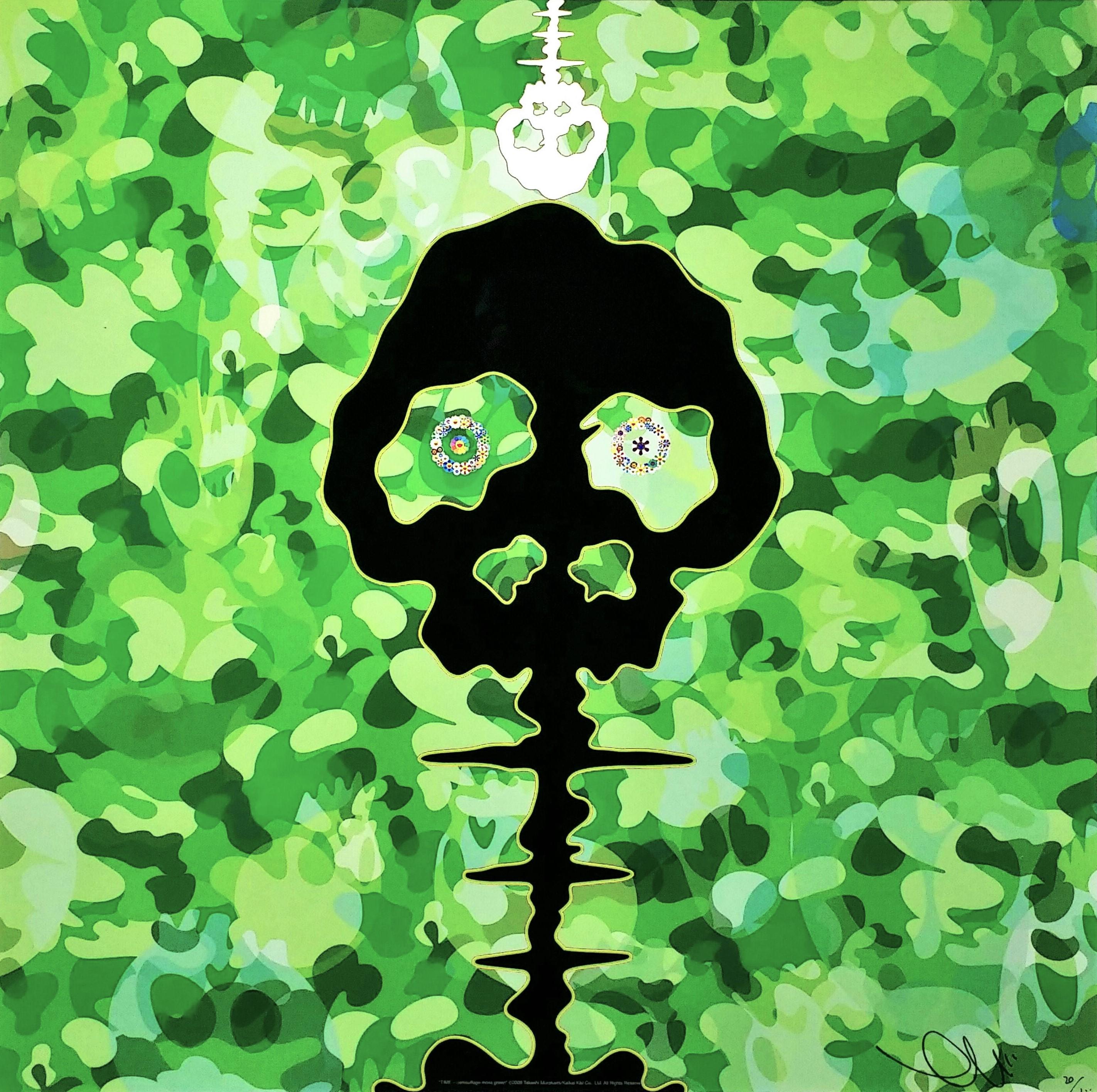 TIME-camouflage-moss-green」オフセットリトグラフ49×49cm1.jpg