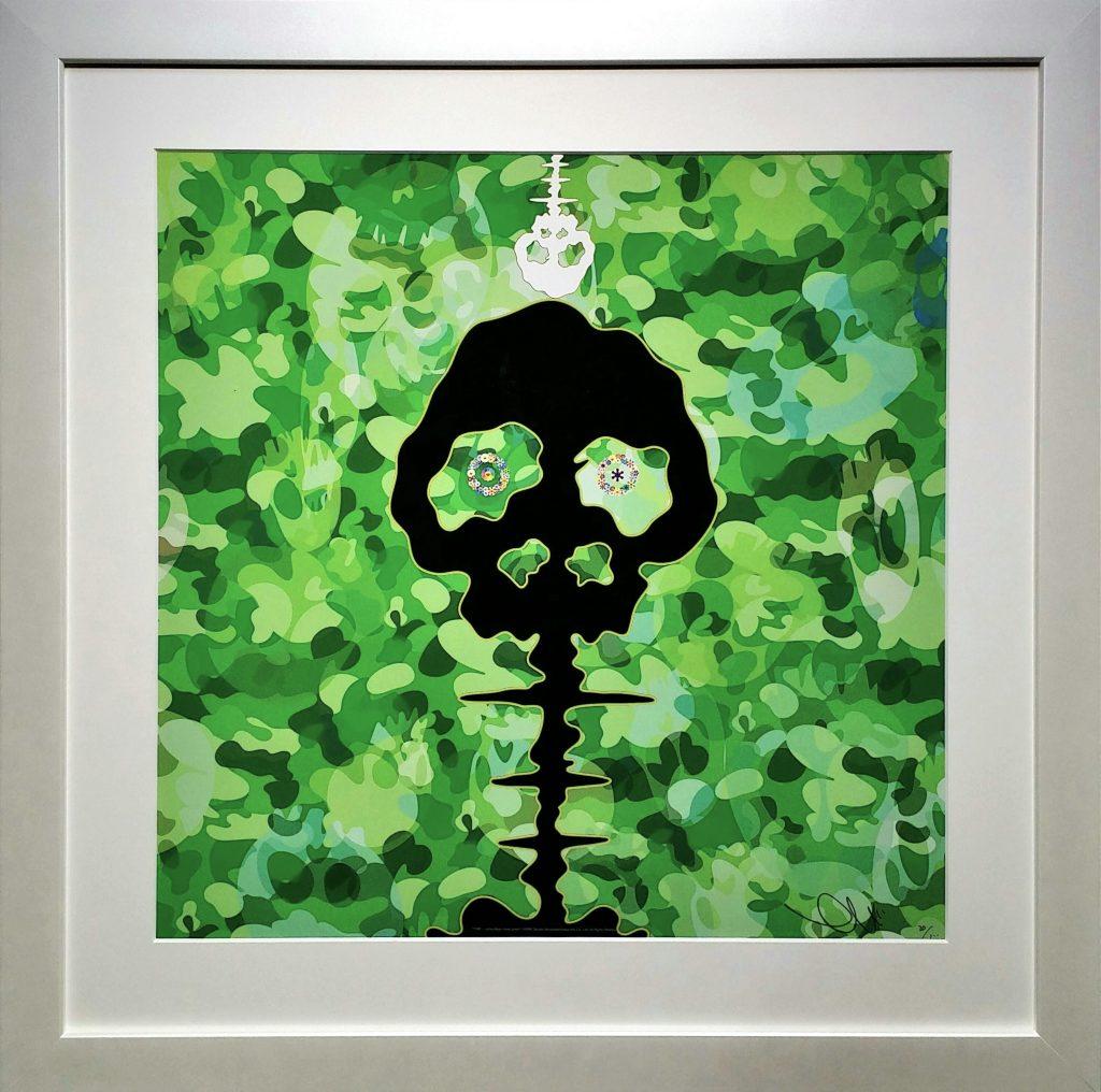 TIME-camouflage-moss-green」オフセットリトグラフ49×49cm2.jpg
