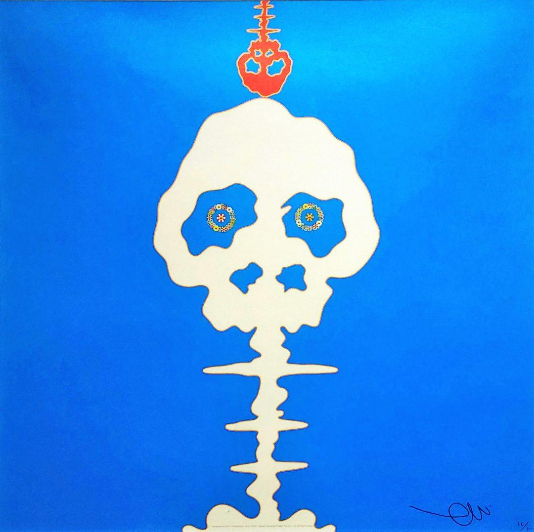 Time-Bokan-blue」オフセットリトグラフ50×50cm2.jpg
