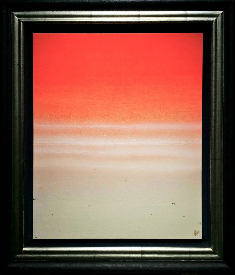 sea-scape-red-shore」日本画10号2.jpg