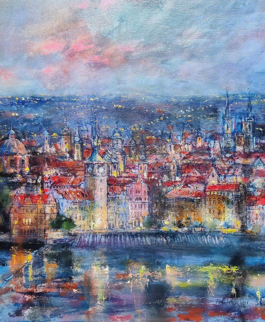 1808-25レタック「Evening-Old-City」油彩12号1.jpg