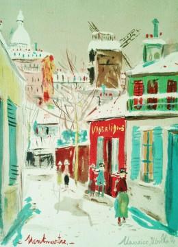 モンマルトルの雪の朝