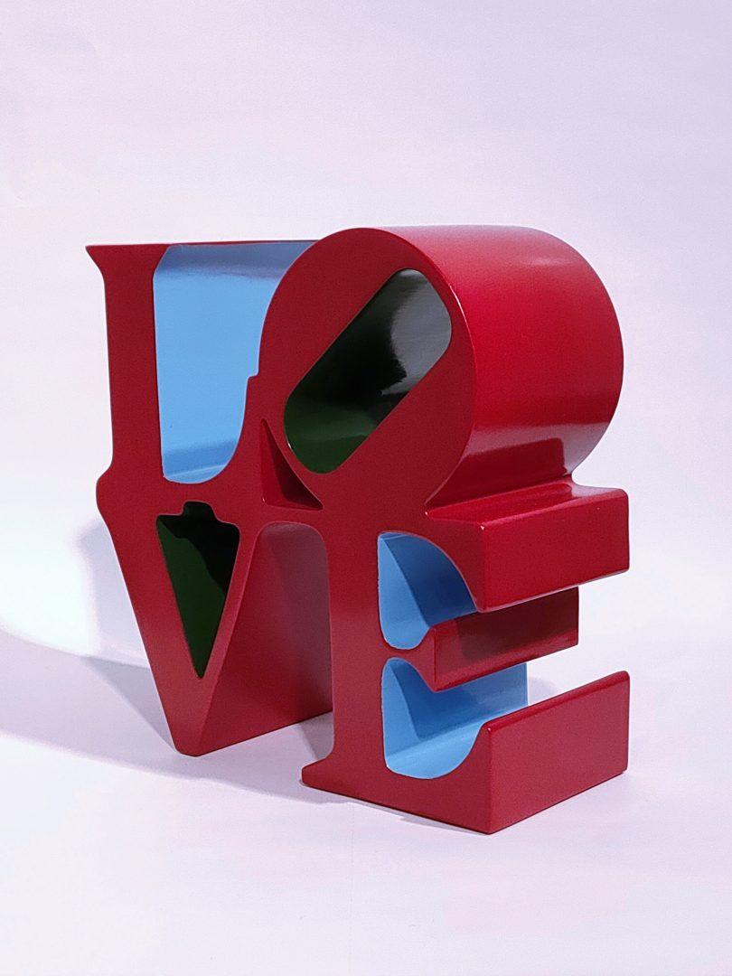 No.99-52ロバート・インディアナ「LOVEレッド」ポリストーン14×14×6.5cm1.jpg